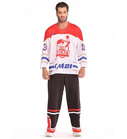冰球服-红+白