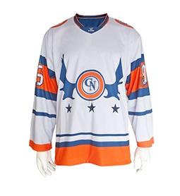 深圳冰球服-白色+橙色