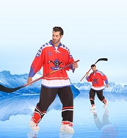 长春冰球服-红色