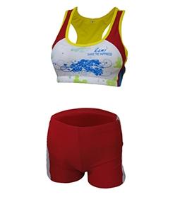 长春排球服-黄+红